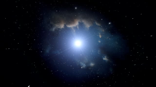 Nebula and bright star. video