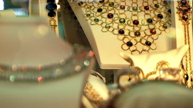 Necklace in shop window video