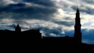 Nederland Anne Frank house and Westerkerk clouds video