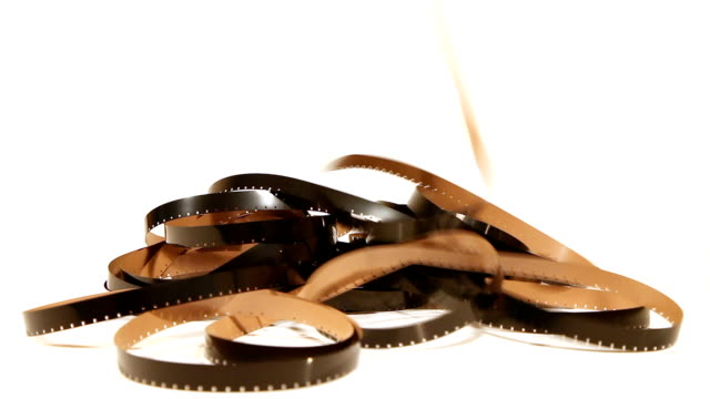 Negative 16 mm film video