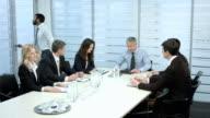 Negotiations businessmen. video