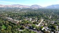 Neighborhood streets with mountains video