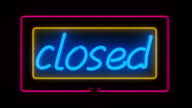 Neon Closed Sign video