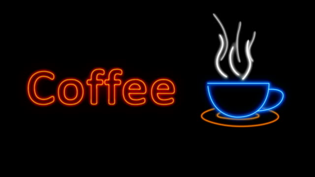 Neon Coffee Sign HD Video video