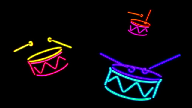 neon Drum light video