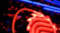 Neon light defocused video