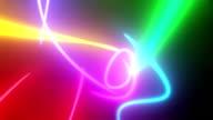 Neon lines. video