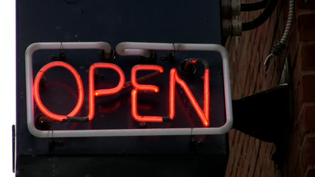 Neon Open sign. video