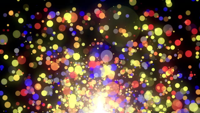 neon particles rising up video