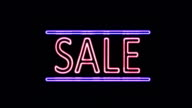 SALE Neon Sign in Retro Style Turning On video