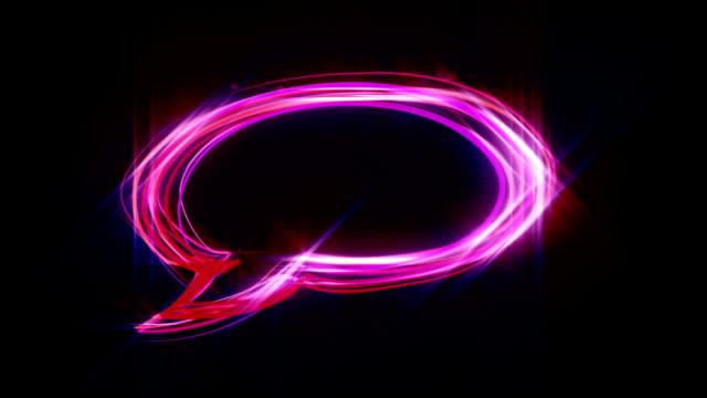 Neon speech bubble HD video