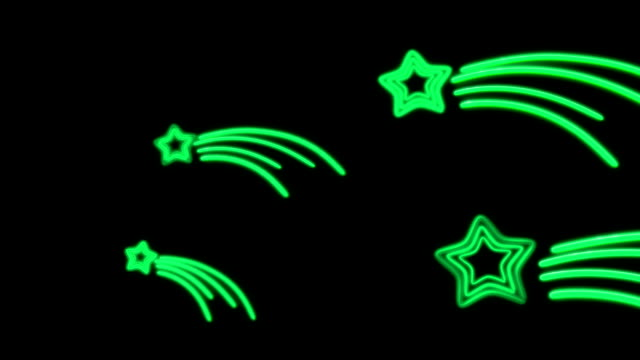 neon star tail color video