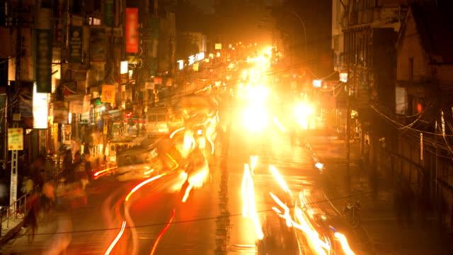 Nepal Night Traffic video