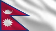 Nepalese flag video