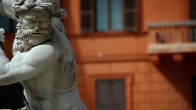 Neptune Statue at Piazza Navona in Rome video