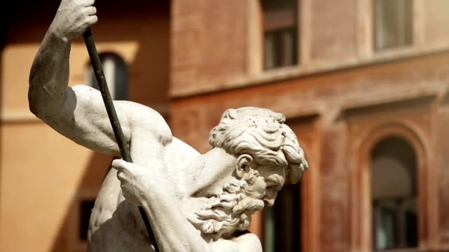 Neptune Statue Masterpiece in Rome video