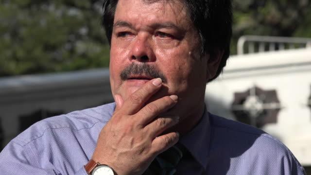 Nervous and Stressed Older Man video