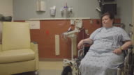 Nervous Elderly Patient Waiting In The Hospital video