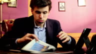 Nervous entrepreneur, startup fail, going bankrupt, headshot video