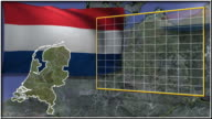 Netherland flag and map animation video