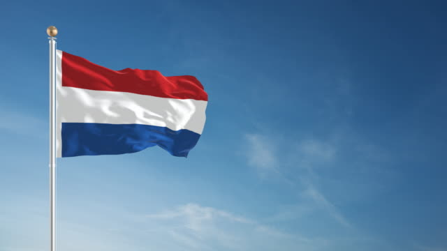 4K Netherlands Flag - Loopable video