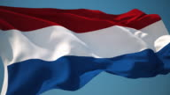 4K Netherlands Flag - Loopable video