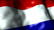 Netherlands Flag waving, looping video