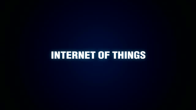 Network, Sensor, Data, Technology, Device, Text animation  'INTERNET OF THINGS' video