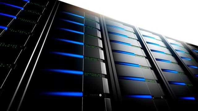 Network Servers in Line (Loop) video