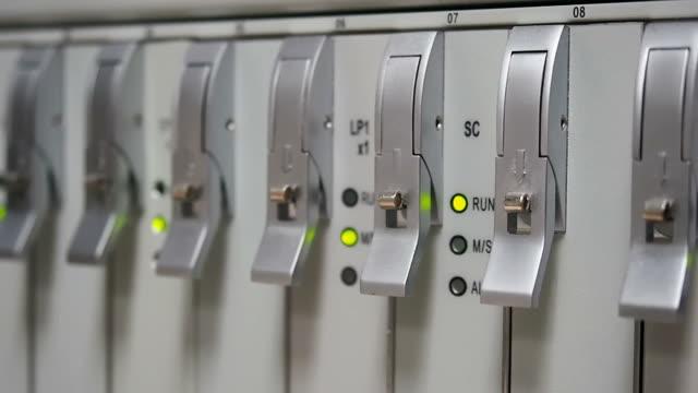 Network status flashing video