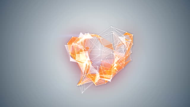 network technology heart shape animation video