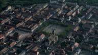 Neuf-Brisach And Citadel At Dusk  - Aerial View - Alsace, Haut-Rhin, Arrondissement de Colmar, France video