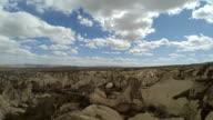nevsehir urgup kapadokya cloudy day with rotating timelapse video