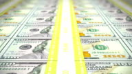 New 100 USD stacks, loop, DOF video