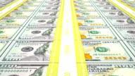 New 100 USD stacks, loop video