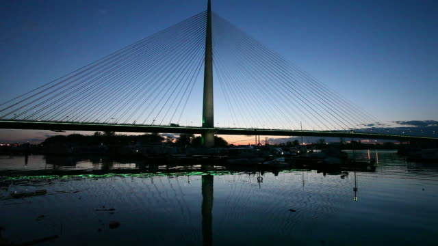 New Belgrade Bridge on Sava river video