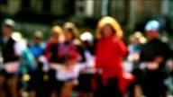 New Blurred Marathon Runners HD II video