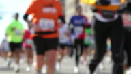 New Blurred Marathon Runners HD video