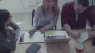 New business team: at work in the startup office video