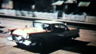 New Car Backing Out Of Driveway-1958 Vintage 8mm film video