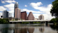 New Construction Building Highrise Office Towers Austin Texas Colorado River video