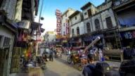 New Delhi Pahar Ganj main street time lapse video