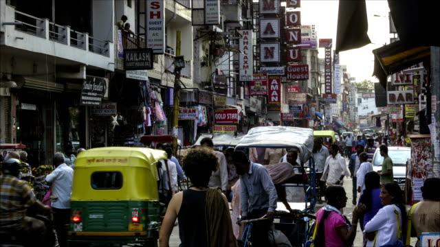 New Delhi Pahar Ganj market time lapse video