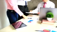 New employees in the company signed a contract video