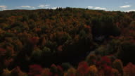 New England Autumn Colors By Drone video