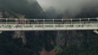 New glass bridge of Hunan China video