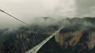 New glass bridge of Hunan China video