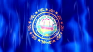 New Hampshire State Flag Animation video
