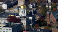 New Hampshire State House  - Aerial View - New Hampshire,  Merrimack County,  United States video