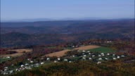 New Housing North Of New Milford  - Aerial View - Connecticut,  Litchfield County,  United States video